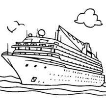 Cruise Ship for Rich People Coloring Pages