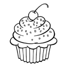 Cupcakes Chocolate Sprinkles Coloring Pages