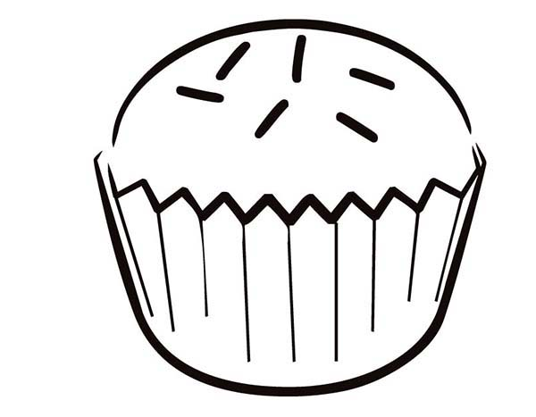 Cupcakes Picture Coloring Pages