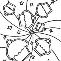 Cupcakes Wallpaper Coloring Pages