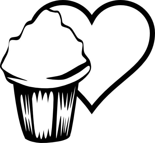 Cupcakes for Love Ones Coloring Pages