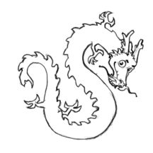 Cute Chinese Dragon Coloring Pages