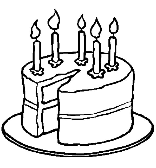 Cutting Birthday Cake Coloring Pages