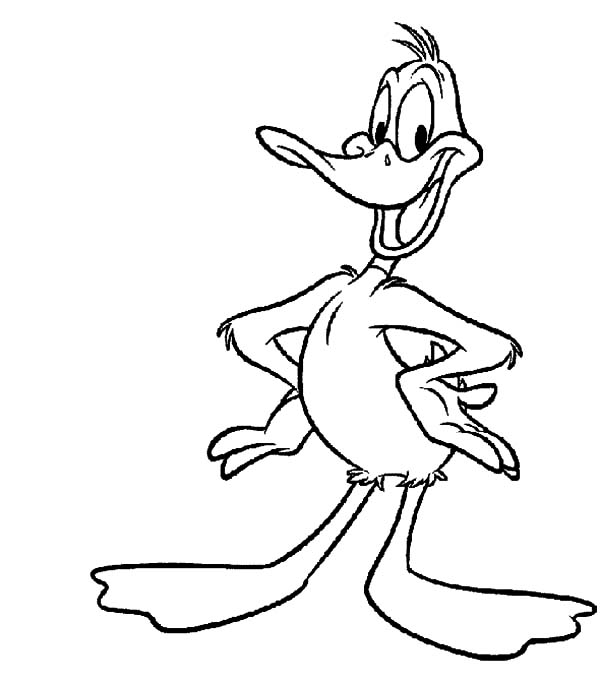 Daffy Duck is Smiling Wide Coloring Pages