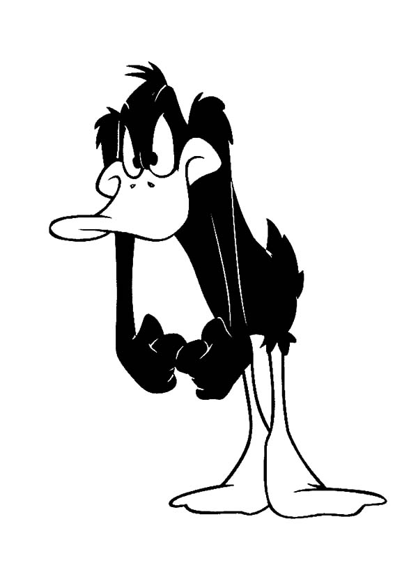 Daffy Duck is Upset Coloring Pages