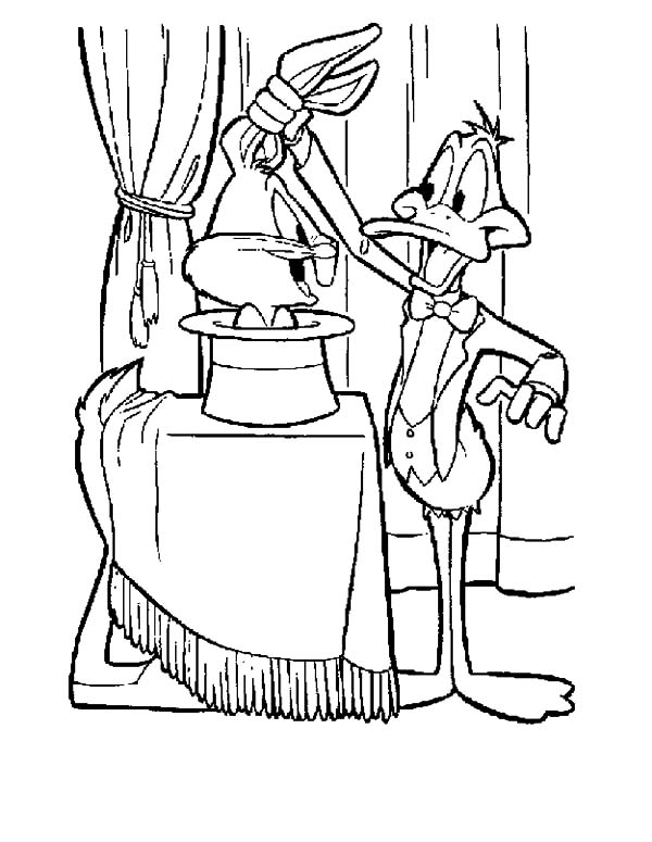 Daffy Duck the Magician Coloring Pages