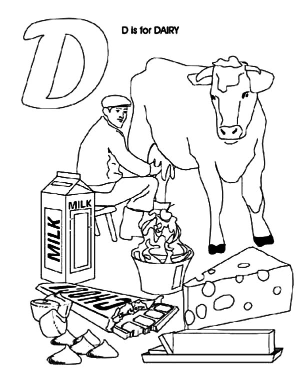 Dairy Cow Product Coloring Pages