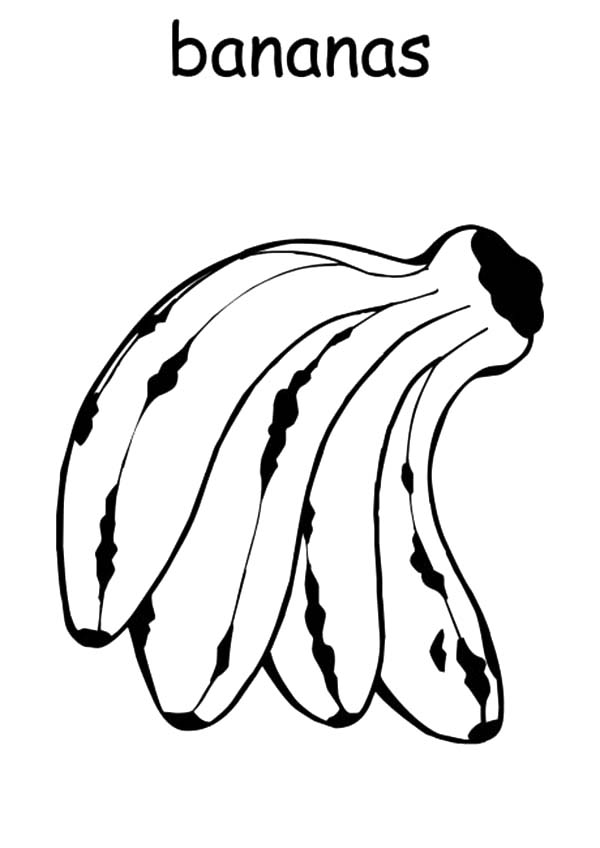 Delicious Banana Bunch Coloring Pages