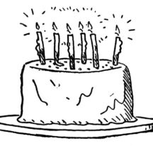 Delicious Birthday Cake Coloring Pages