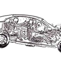 Depiction Crashed Cars Coloring Pages