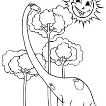 Diplodocus Eat Tallest Leaves Coloring Pages