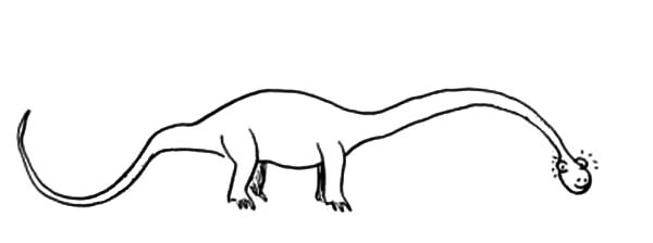 Diplodocus Long Body Coloring Pages