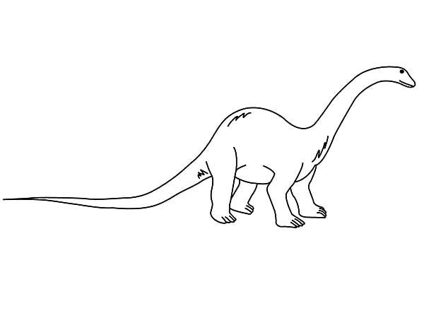 Diplodocus Outline Coloring Pages