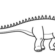 Diplodocus Sharp Back Coloring Pages