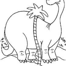 Diplodocus is Taller Than Palm Tree Coloring Pages