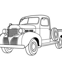Dodge Pickup 1939 Classic Car Coloring Pages