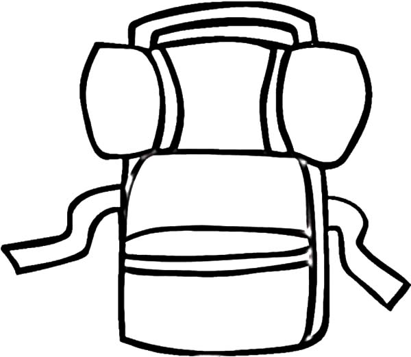 Drawing Camping Backpack Coloring Pages
