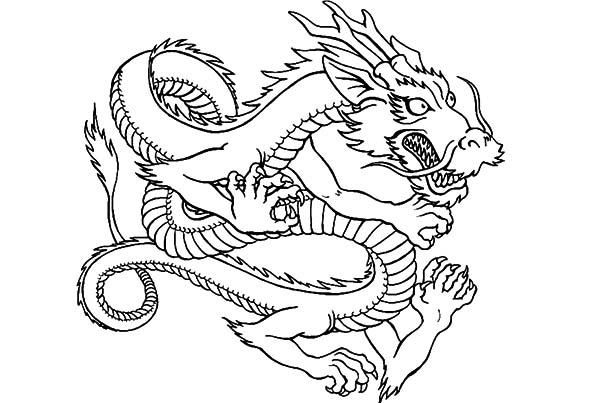 Drawing Chinese Dragon Coloring Pages