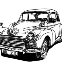 Drawing Classic Car Coloring Pages