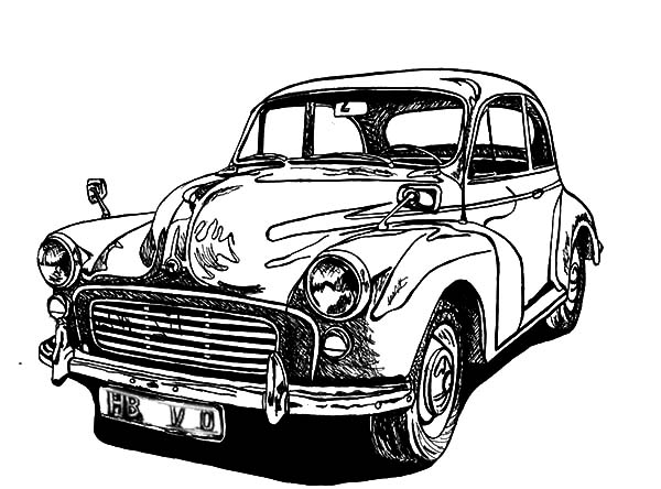 Drawing Classic Car Coloring Pages - NetArt