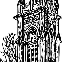 Drawing Clock Tower Coloring Pages