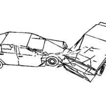 Drawing Crashed Cars Coloring Pages