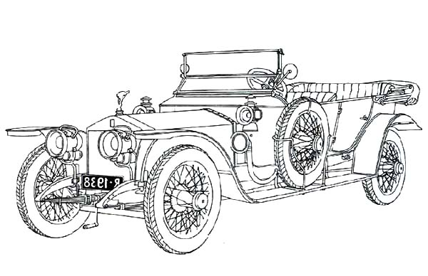 Exclusive Classic Car Coloring Pages