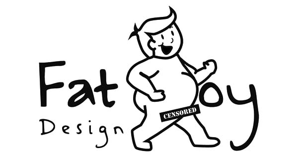 Fat Boy Naked Design Coloring Pages