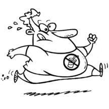 Fat Boy Running Coloring Pages