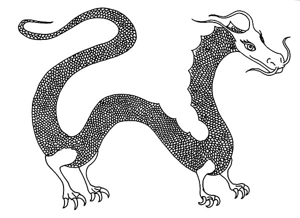 Female Chinese Dragon Coloring Pages
