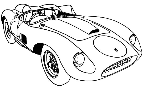 Ferrari Classic Car Coloring Pages