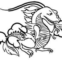 Fire Breathing Chinese Dragon Coloring Pages