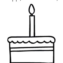 First Birthday Cake Coloring Pages