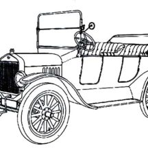 Fresh and Airy Classic Car Design Coloring Pages