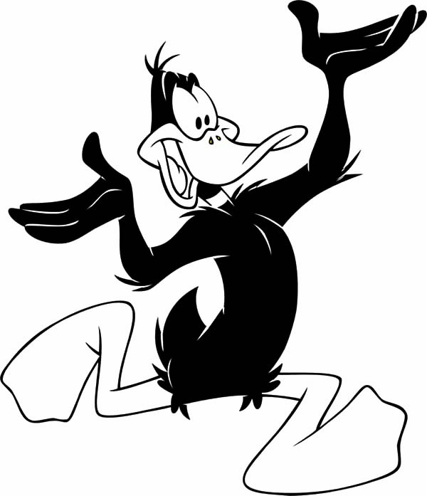 High Spirited Daffy Duck Coloring Pages