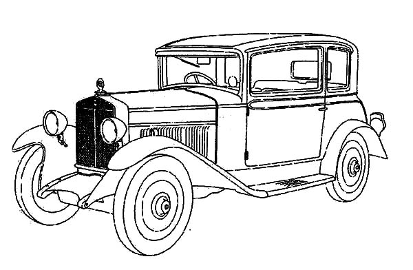 High Value Classic Car Coloring Pages