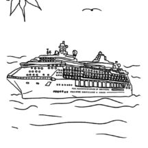 Holiday on Cruise Ship Coloring Pages