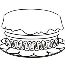 How to Draw Birthday Cake Coloring Pages