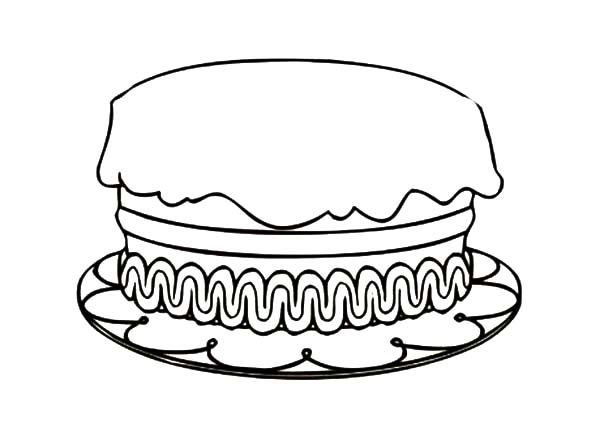 How to Draw Birthday Cake Coloring Pages NetArt