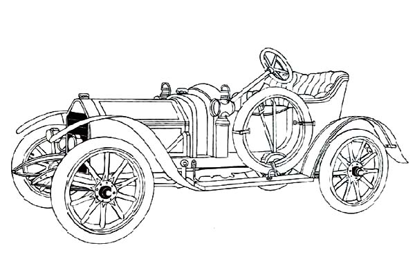 How to Draw Classic Car Coloring Pages