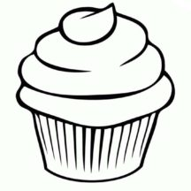 How to Draw Cupcakes Coloring Pages