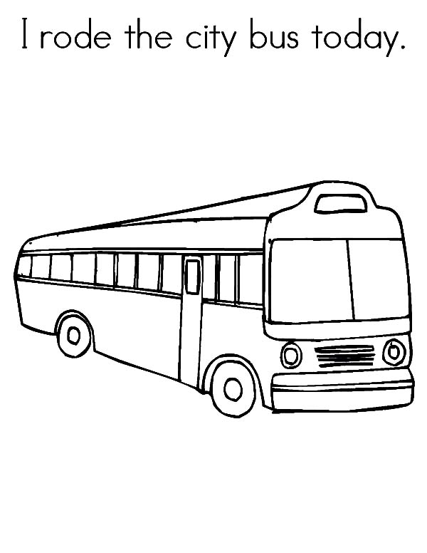 I Rode the City Bus Today Coloring Pages