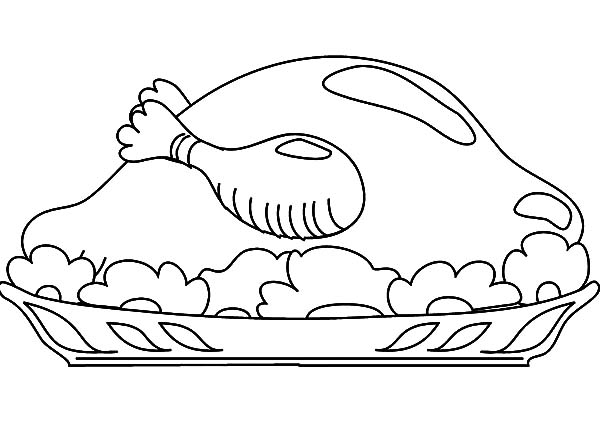 I Want Chicken Drumstick Coloring Pages