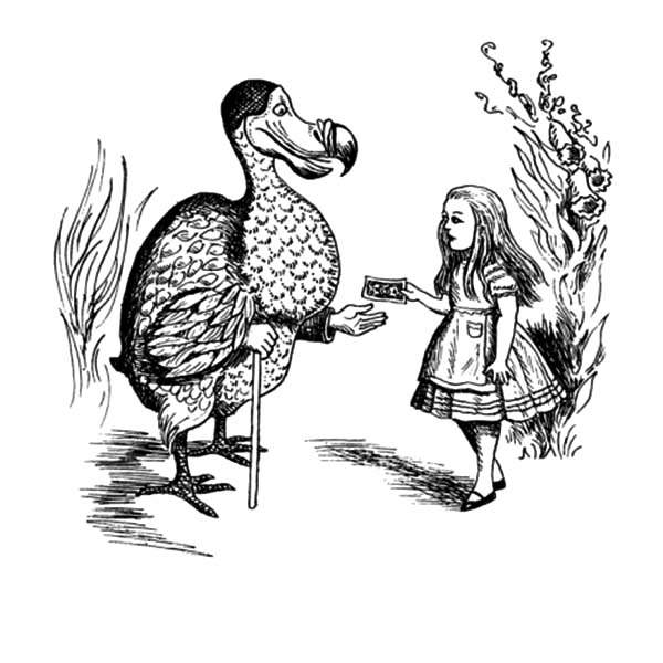 JB Handelsman Dodo Bird and Alice Coloring Pages