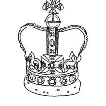 Jeweled Crown Coloring Pages