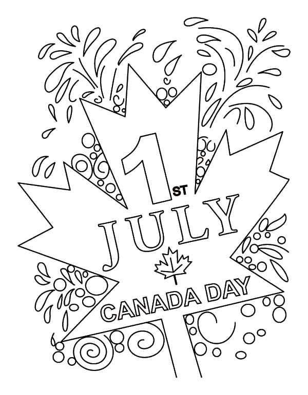July First is Canada Day Coloring Pages