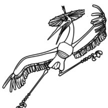 Kungfu Panda Master Crane Bird Coloring Pages