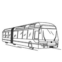 Long City Bus Coloring Pages