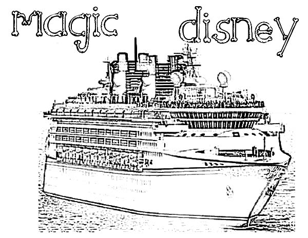Magic Disney Cruise Ship Coloring Pages