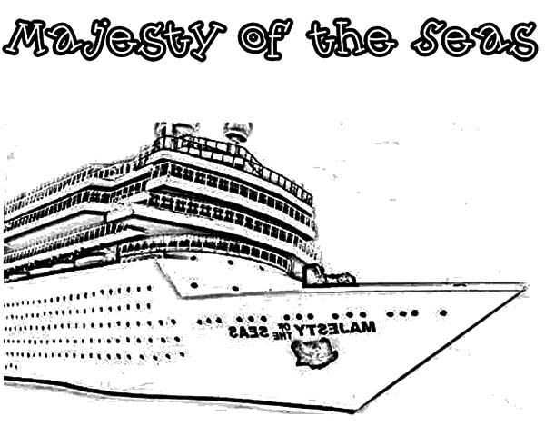 Majesty of the Seas Cruise Ship Coloring Pages